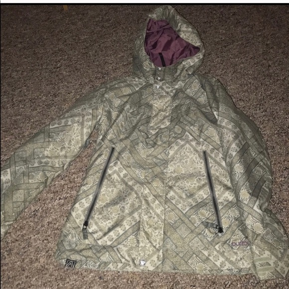 Burton Jackets Coats Womens Burtom Grey Patterned Ski Jacket Xs Magnificent Patterned Ski Jackets